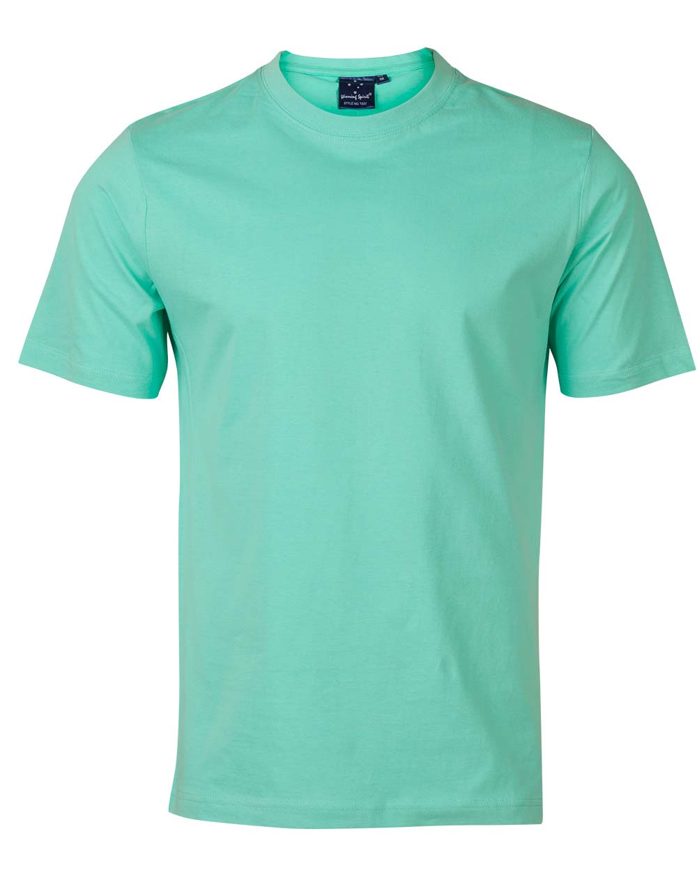 T shirts winning spirit mens 185gm 100 cotton semi for What is a fitted t shirt